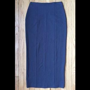 Haya maxi stretch pencil skirt w/ pockets